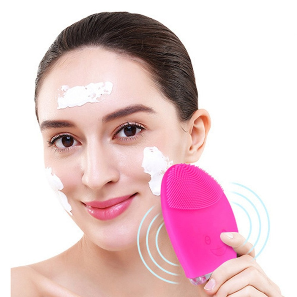 Mini Electric Facial Cleaning Massage Brush Face Body Washing Machine Waterproof Silicone Facial Cleansing Devices Drop Shipping