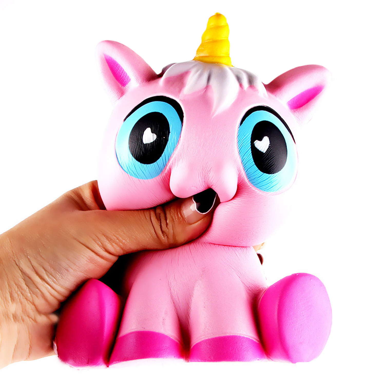 Satkago Cute Kawaii Soft Squishy Unicorn Toy Slow Rising for Kids Adults Relieves Stress Anxiety Home Decor Props