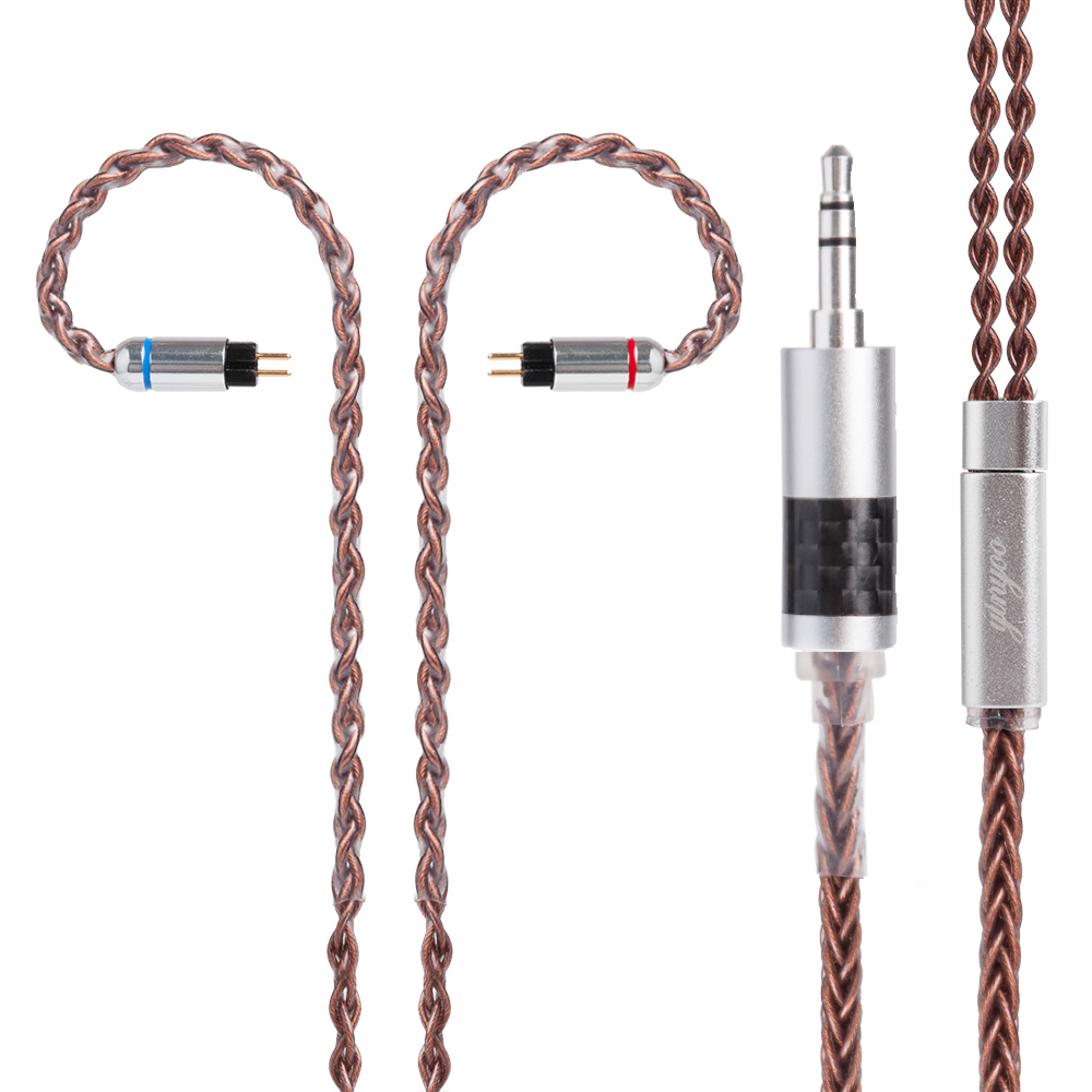 Yinyoo 8 Core cuivre étamé Câble 2.5/3.5/4.4mm Équilibré Câble Écouteurs Mets Câble Avec MMCX/2Pin KZ ZST TRN V80/V30 CCA