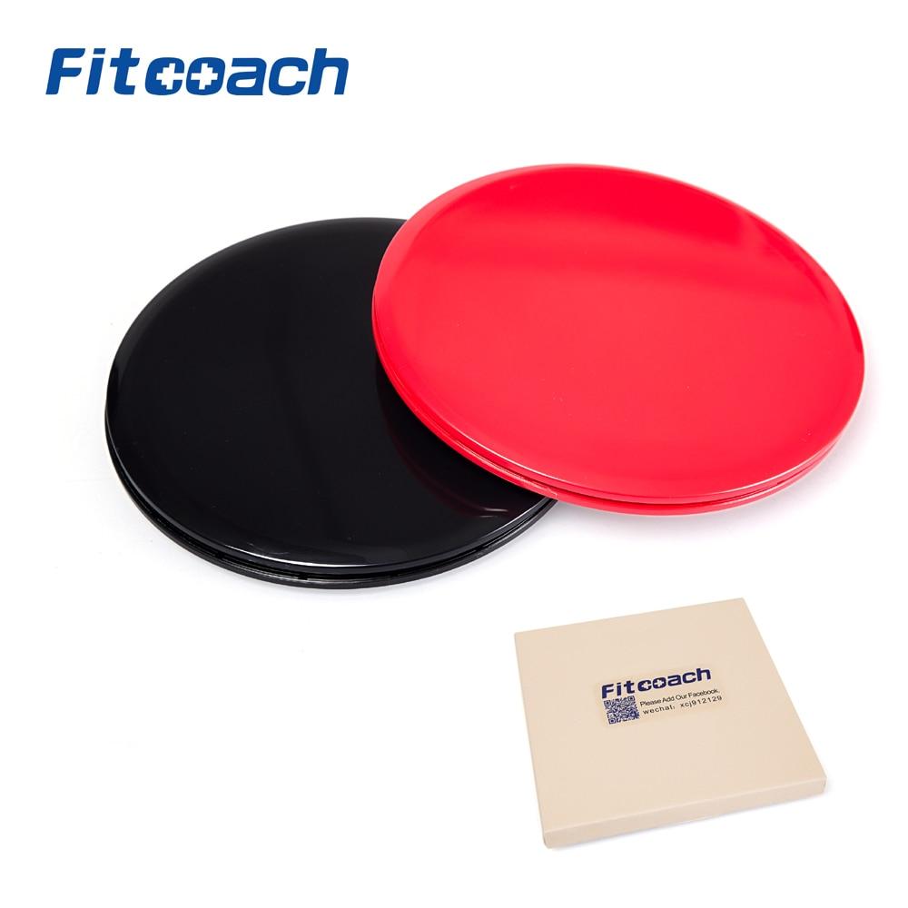 Gliding Discs Core Sliders. Dubbelsidig användning på mattor eller - Fitness och bodybuilding