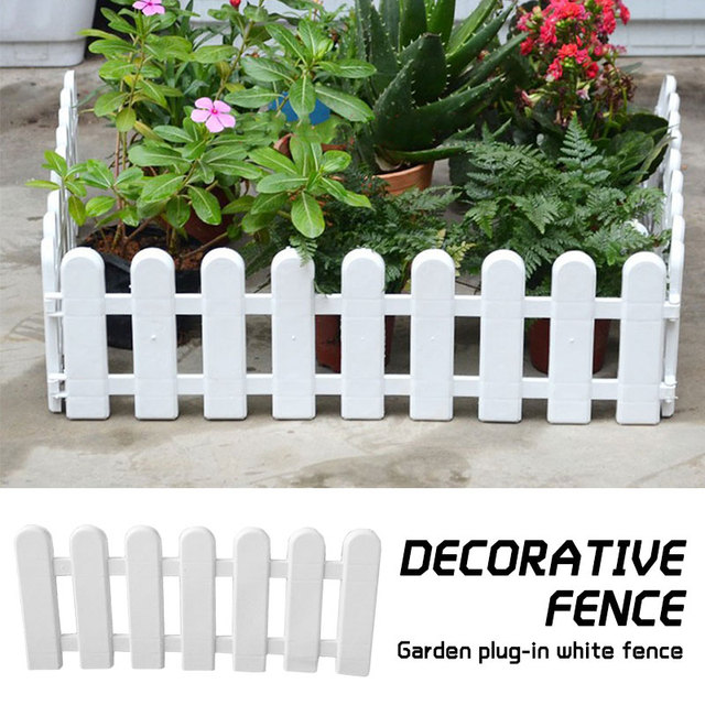 1pcs Diy Miniature Small Wood Fence Christmas Tree Fence White