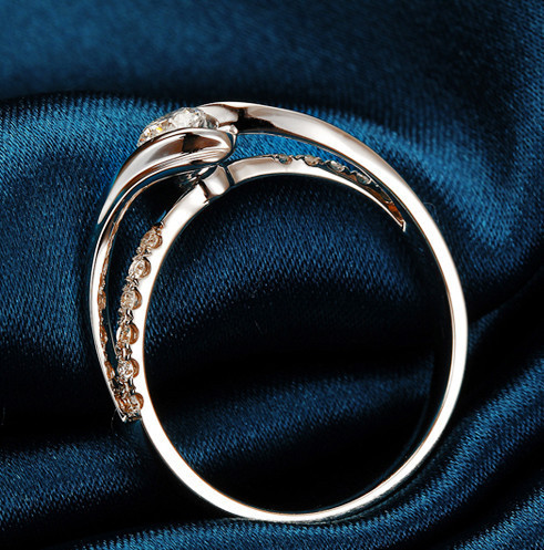 0.2CT 100% Real Diamond 14K Gold Ring