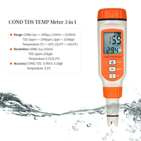 Professional Water Quality Tester Conductivity Meter TDS COND TEMP Analyzer Total Dissolved Solid Test Thermometer ATC Function