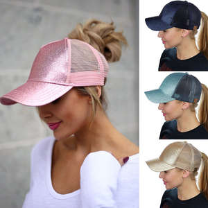 2018 Women Ladies Girls Sequins Snapback Hat Sun Pink a829086305ae