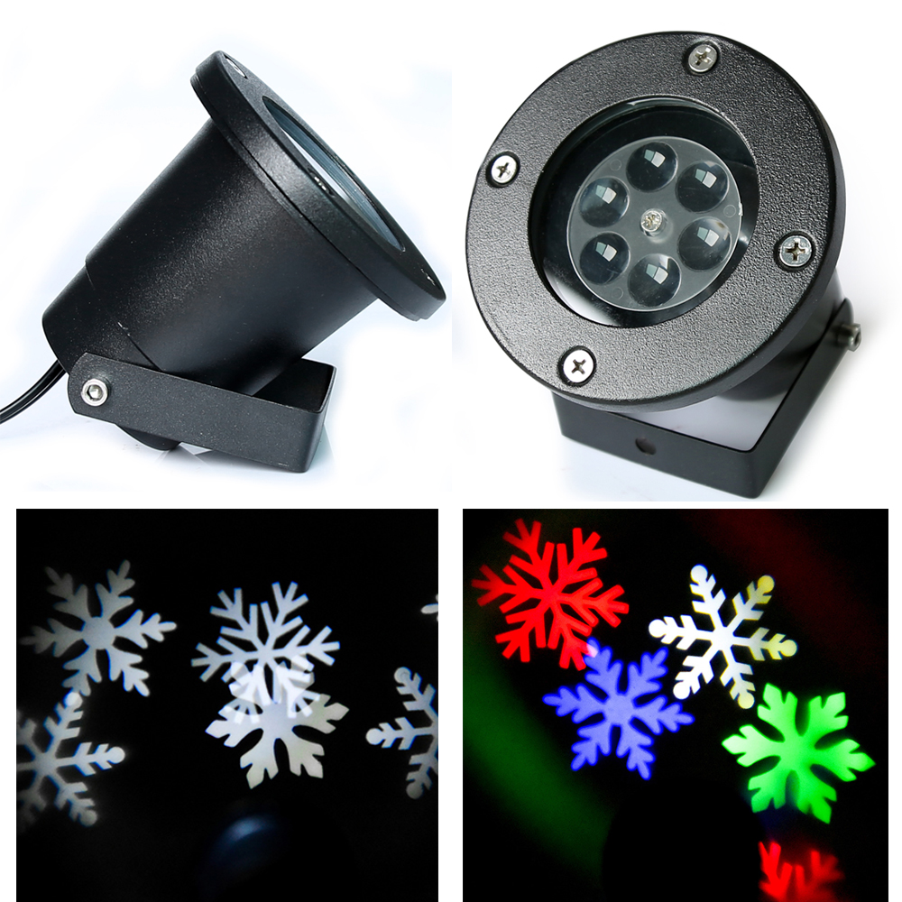 Christmas Moving Snowflake Led Landscape Projector Light