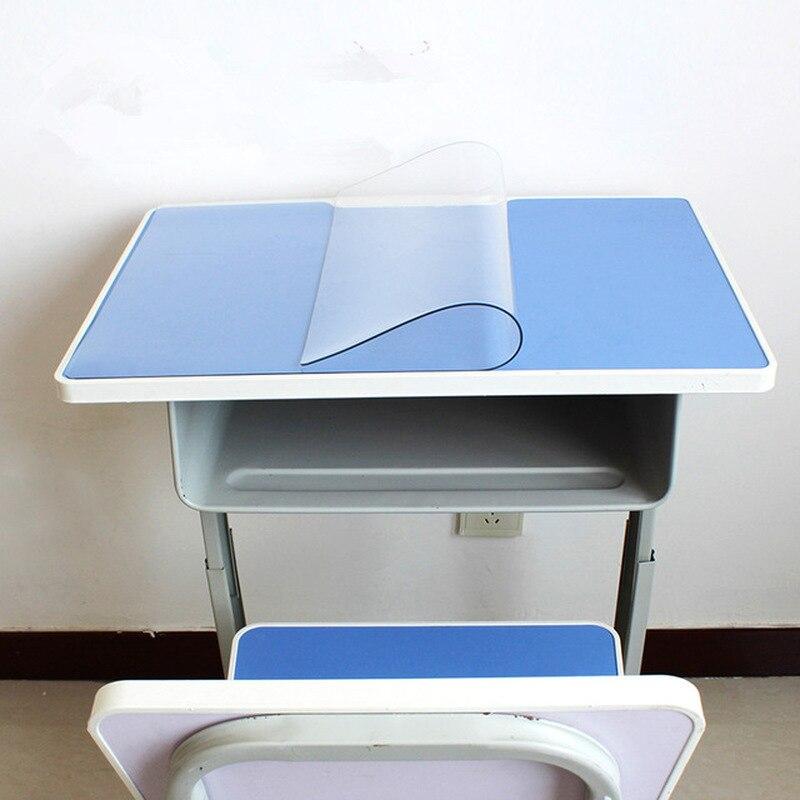 Tapis de table d'étudiant de bureau de protection de protection de tampon de Pvc tapis de table en verre transparent nappe de protection de maison napperon en plastique