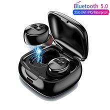XG12 TWS מיני Bluetooth 5.0 אוזניות סטריאו בס אוזניות נייד אלחוטי אוזניות עם טעינת תיבת עבור Huawei iPhone סמסונג