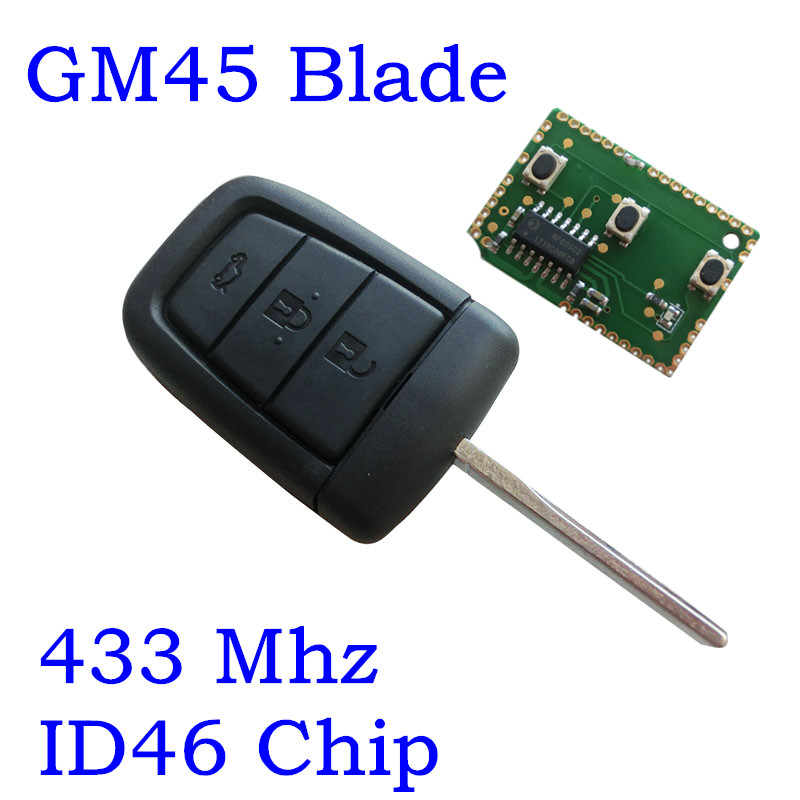 Замена удаленный ключевой Автозапуск Дело Fob 3 + 1 кнопка для Chevrolet Holden Commodore Aveo