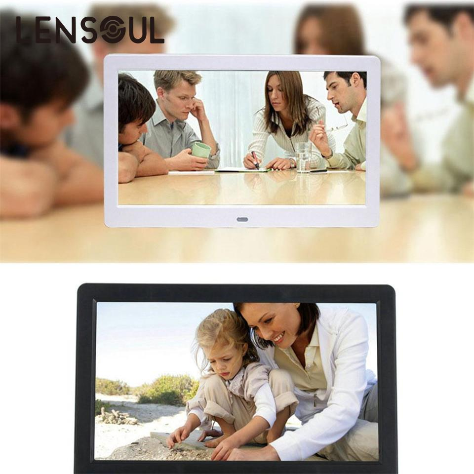 lensoul 10 LCD HD Digital Photo Frame Picture Movie Video Mp3/4 Player Support SD Card U Disk Photograph Decor Remote Control 9 7 hd digital photo frame with remote control silver
