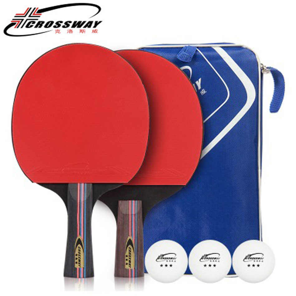 2Pcs/Set Carbon Table Tennis Racket 3-Star Ping Pong Racket Rubber Table Tennis Blade Table Tennis Training Paddle With Bag Ball