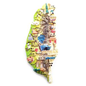 3D смолы магнит на холодильник Тайвань Бразилия Чили Испания подарок-сувенир для туриста холодильник магнитные наклейки стикер DIY украшение дома