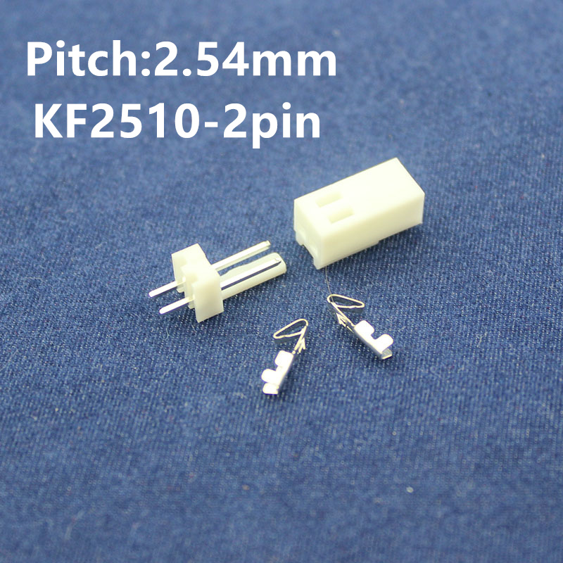 Free Shipping 50 sets  KF2510-2pin 2.54mm Pitch Terminal / Housing / Pin Header Connector  Adaptor KF2510-2P Kits eu uk standard sesoo remote control switch 3 gang 1 way wireless remote control wall touch switch light switch for smart home