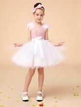 Бальное платье цвета слоновой кости принцесса маленькие девочки платья платья с створки дети вечернее платье