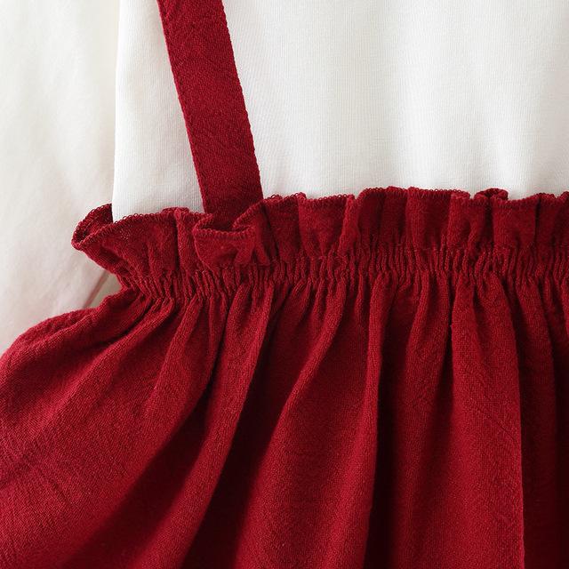 BibiCola 2018 baby girls dress infant cotton long sleeve princess tutu dress toddle kids fashion floral formal wedding dresses