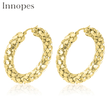 Innopes Earings fashion jewelry chain big golds hoop earring for women party gift stainless steel