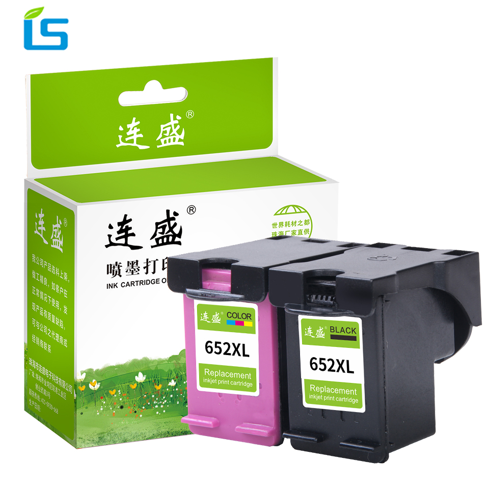 2Pcs/set 652XL Remanufactured Ink Cartridges replacement For HP 652 XL Ink Cartridge For Deskjet 1115 2135 2136 2138 3636 3638