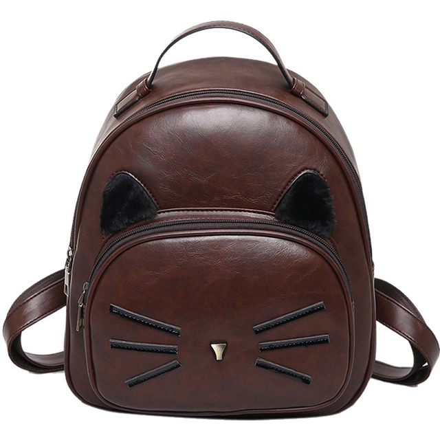 d34e803ea14 Kawaii Cat Ear Backpack Black Preppy Style School Backpacks For Teenage  Girls College Style Casual Backpack Sac Mochilas on Sale