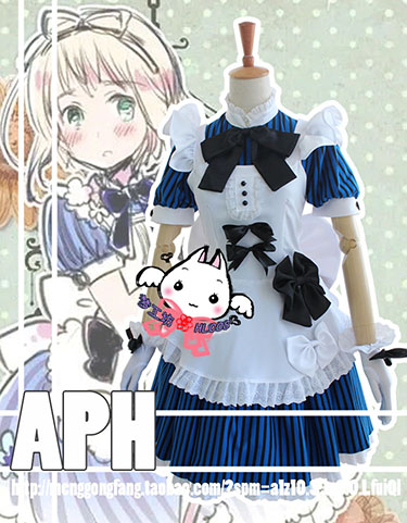 APH Axis PowersHetalia Principality of Liechtenstein Cosplay Female Dress Costume Custom Made