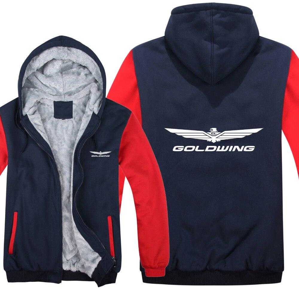 Goldwing GL1800 1500 Hoodies Jacket Winter Men Pullover Man Coat Casual Wool Liner Fleece Goldwing Sweatshirts