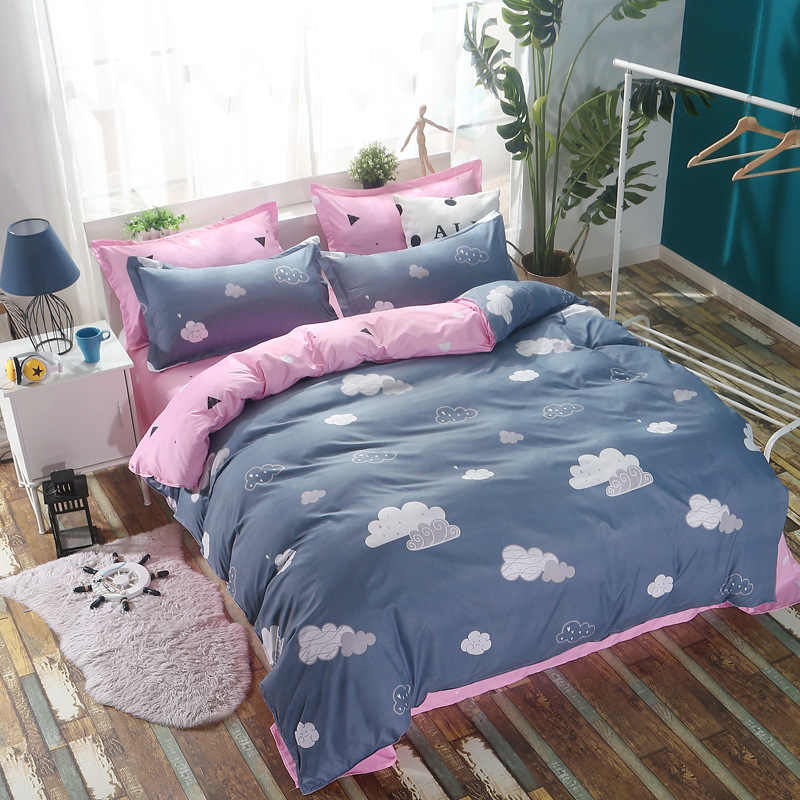 Girl Kids Student Cotton Bed Linen  Bedding Set Single Twin Queen King Size Duvet Cover Comforter Case  Bedclothes24