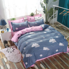 Girl Kids Student Cotton Bed Linen Bedding Set Single Twin Queen King Size Duvet Cover Comforter Case Bedclothes24(China)