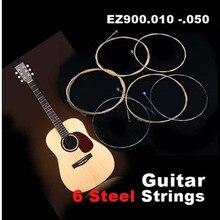 Electric Guitar Acoustic Set of EZ900.010 -.050 6 Steel Gauge Strings SS