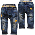 3803 free shipping  soft dinim pants baby boy jeans children's trousers  autumn boys  navy blue baby jeans casual pants