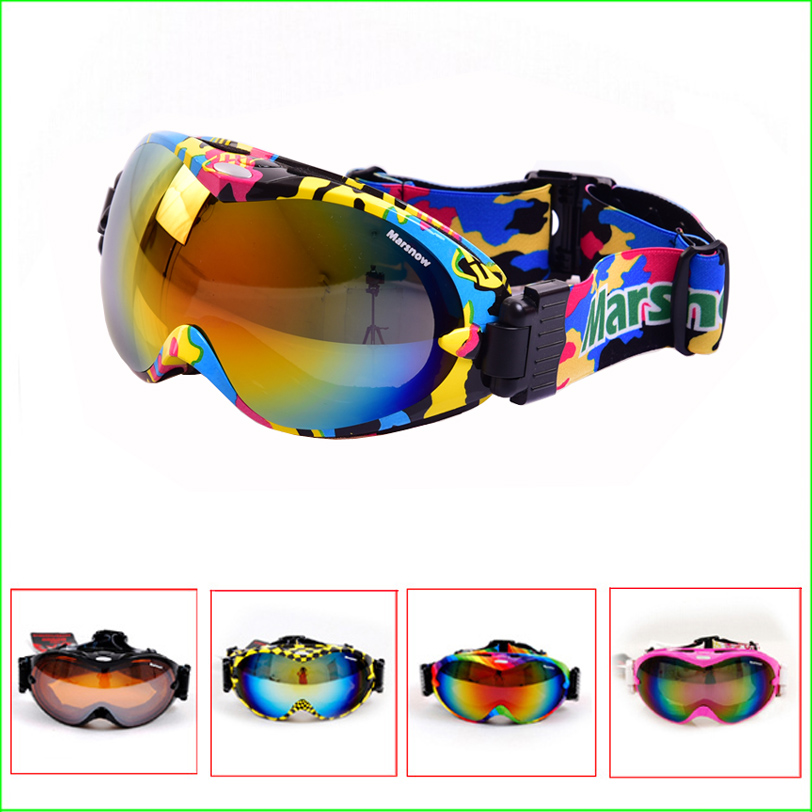 ФОТО FG03 Skiing goggles double lens anti-fog professional ski glasses Unisex Multicolor UV-protection Snowing Goggles