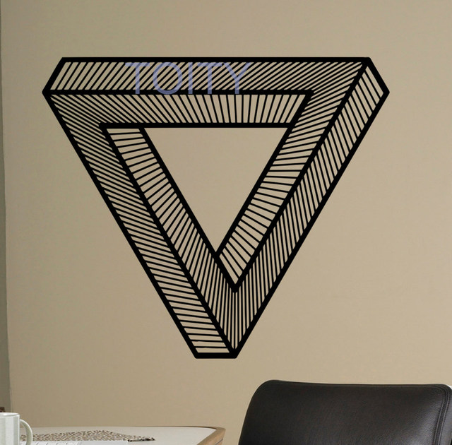 Online Shop Optical Illusion Wall Vinyl Decal Impossible Sticker ...