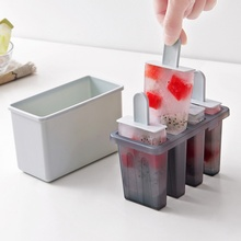 4 Grids DIY Popsicle Ice Cream Mold Household Maker PP Juice Cube Lolly Mould Kitchen Cooking Tools