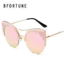 2017 cat eye vintage sunglasses mujeres diseñador de la marca de lujo de mármol marco moda retro gafas de sol lentes de sol gafas feminino