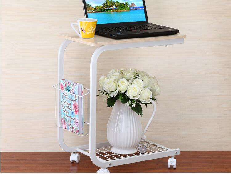 50*30CM Wood Laptop Table Lazy Bedside Table Leisure Coffee Table Notebook Computer Desk