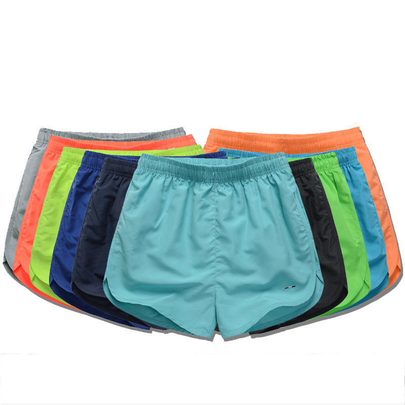 2018 Mens Fitness   Shorts   Casual Summer Fashion Solid color polyester Beach   Shorts   Men   Board     Shorts   Boardshorts 9 colors