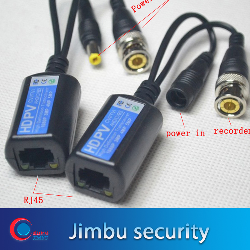 5pairs Video Balun Combine Power Balun  Transmission With  CAT5e 6 Surge Protect  For4mp 720 HD-CVI/TVI/AHD HD Camera