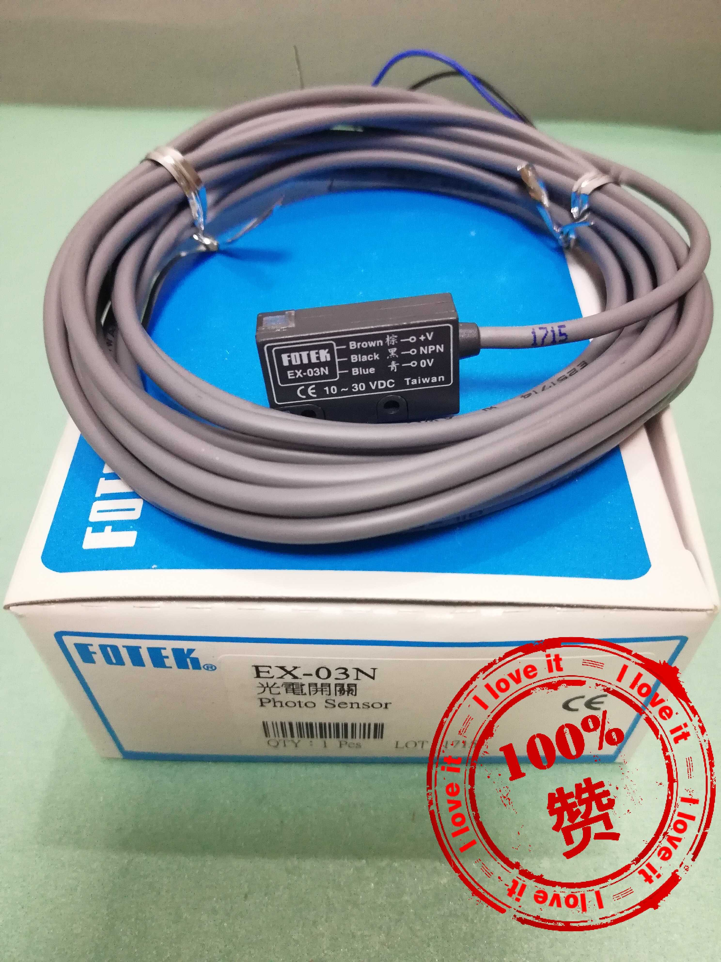 100% New Imported Ex-03n Square Photoelectric Switch Sensor EX-03N