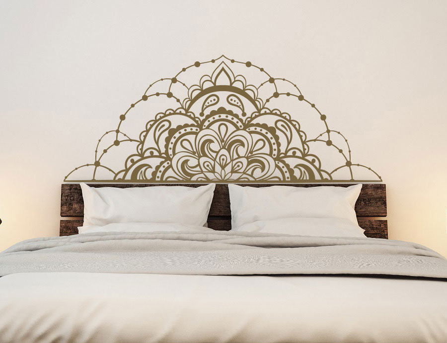 US $9.52 25% OFF|Half Mandala Vinyl Wall Decals For Bedroom Mandala Decal  For Car Window Headboard Master Bedroom Wall Decal MT14-in Wall Stickers ...