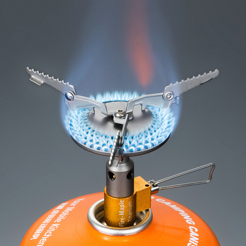 Integrate Titanium Outdoor Folding Gas Stove Camping Stove Hiking Picnic Portable Light Stove Gas Burners Split Equipment point break outdoor camping cookware portable picnic stoves gas stove oven split type cs g18