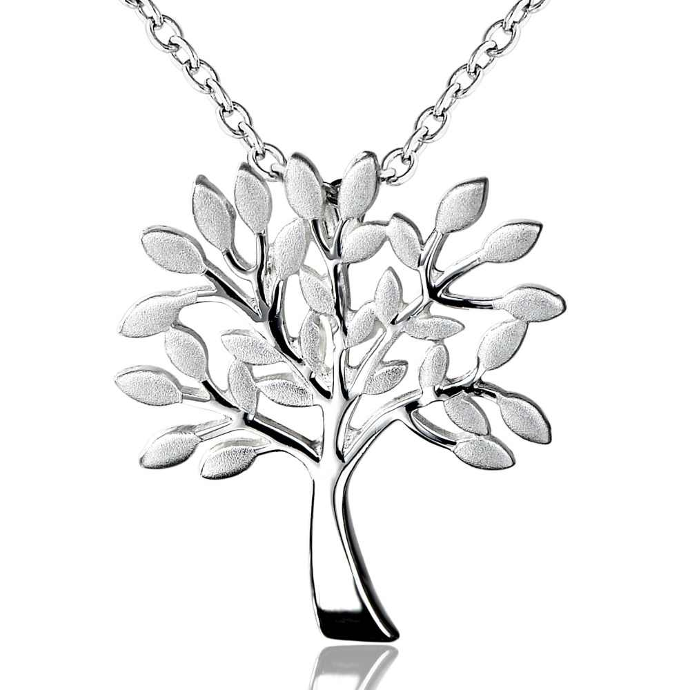 5f22a770681c DORMITH real colgante de plata de ley 925 collar Árbol de la vida Collar  para las