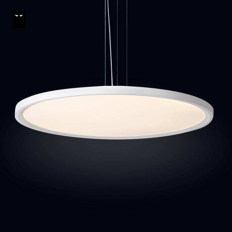Led Thin Round Aluminum Acrylic Pendant Light Fixture