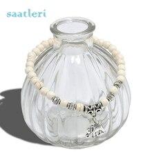 saatleri 2017 New Bijoux Elephant Bracelets Bangles White Natural Stone Bracelet For Women Pulseiras Femininas Boho Jewelry Gift