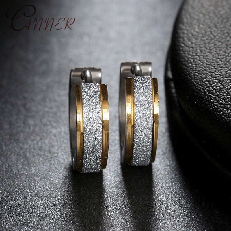 CANNER Small Round Hoop Earrings for Women Stainless Steel Simple Mini Circle Earings 2019 Fashion Party Men Punk Jewelry Gifts in Hoop Earrings from Jewelry Accessories