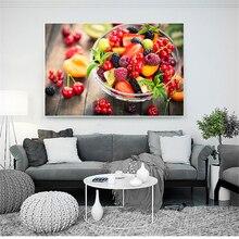 Cuadro de pared, decoración de cocina, arte de pared de frutas, cesta de verduras Retro, póster de tomate Vintage, cuadros de comida nórdica, arte de comedor