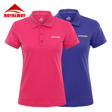 ROYALWAY Camping Hiking Golf  Tees Polos High Quality European Style Quick Dry Breathable 2017 New Arrival#RFEL2010G