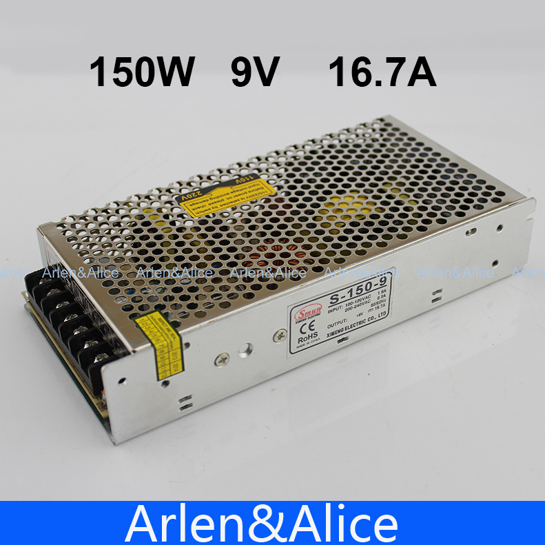 150W 9V 16.7A Single Output Switching power supply for LED Strip light AC to DC 1200w 48v adjustable 220v input single output switching power supply for led strip light ac to dc