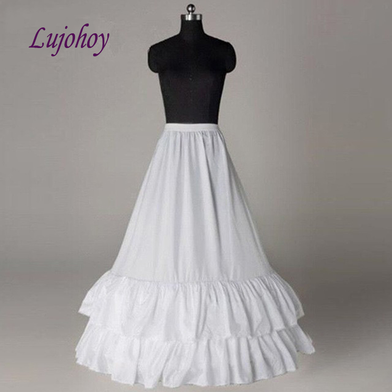 White A Line Petticoat Long for Wedding Dress Bridal Underskirt Girls Woman Jupon Crinoline