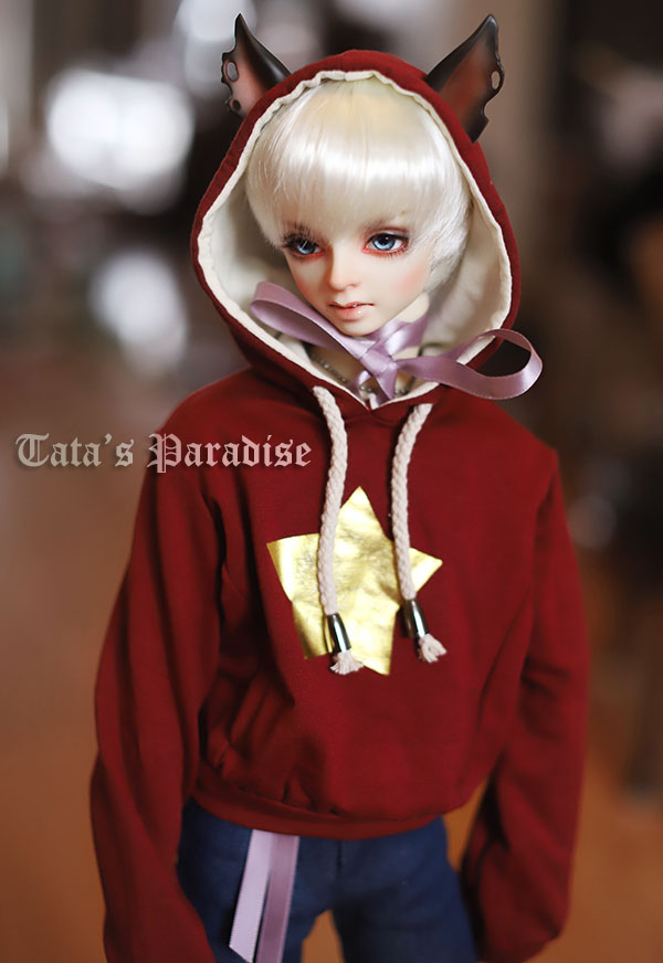 1/6 1/4 1/3 BJD SD DD doll accessories doll clothes red fleece for bjd sd doll 1 8 1 6 1 4 1 3 uncle bjd sd dd doll accessories wigs gold long straight hair