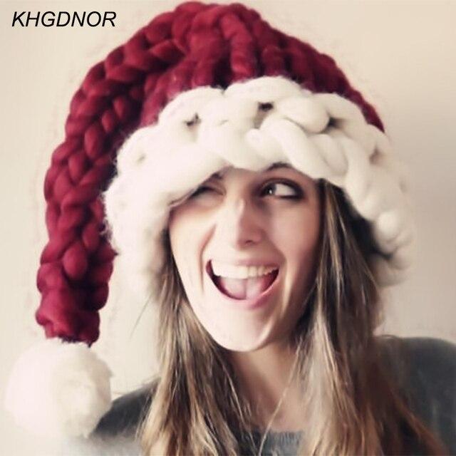 497b7bda0e43d Festival de navidad Sombreros Gorras de Lana Gruesa Larga Cola Sombreros  Gorros para Los Adultos y
