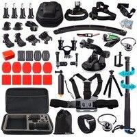 Husiway Accessories Kit For Gopro Hero 5 Session Hero 6 Black Xiaomi Yi 4K EVA Carry