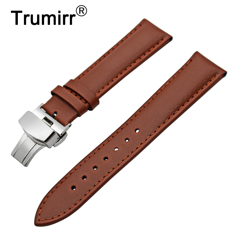 22mm 24mm Genuine Leather Watch Band for Panerai Luminor Radiomir Butterfly Buckle Strap Wrist Belt Bracelet Black Brown + Tool 24mm nylon watchband for suunto traverse watch band zulu strap fabric wrist belt bracelet black blue brown tool spring bars