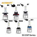 Auxmart H4/H7/H11/9005/9006/H11/H13 Car LED Headlights Bulbs 6500K 72W 8000LM Headlamp for Honda Ford Toyota Nissan Chevrolet VW